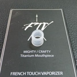 Mighty/Crafty joints embout buccal verre et titane FTV