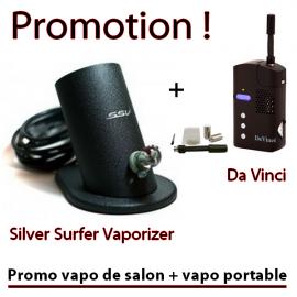 Promo SSV + Da Vinci (vapo de salon + vapo portable)
