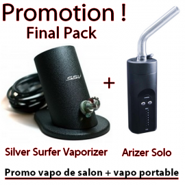Promo SSV + Arizer Solo (vapo de salon + vapo portable)