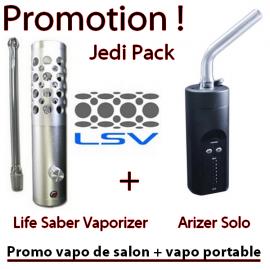Promo LSV + Arizer Solo (vapo de salon + vapo portable)
