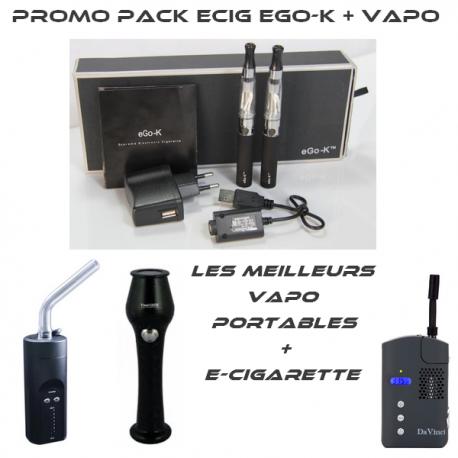 Promo E-Cig Ego-K + vaporisateur