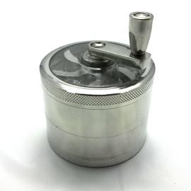 Grinder 4 pièces Alu 60mm - filtre de récuperation - manivelle