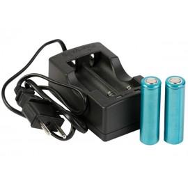 Kit FlashVape S-1 chargeur double + batteries