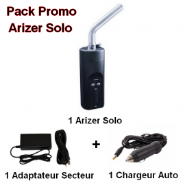 Pack Arizer Solo + Adapatateur secteur + Chargeur Auto